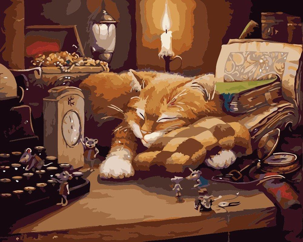 Pintura por Numeros (18626179) gato 16x20