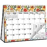 """CRANBURY Small Desk Calendar 2021-2022 - (Floral, 8x6""""), Use Gorgeous Easel Calendar 2021-2022 as Standing Calendar, Table To"""