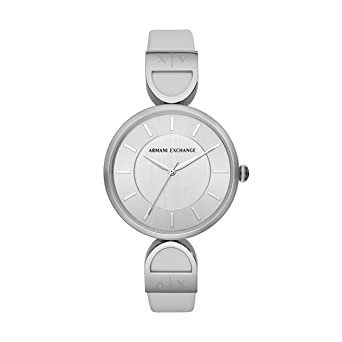 5e7379c56de9 Armani Exchange Damen Analog Quarz Uhr mit Leder Armband AX5325 ...