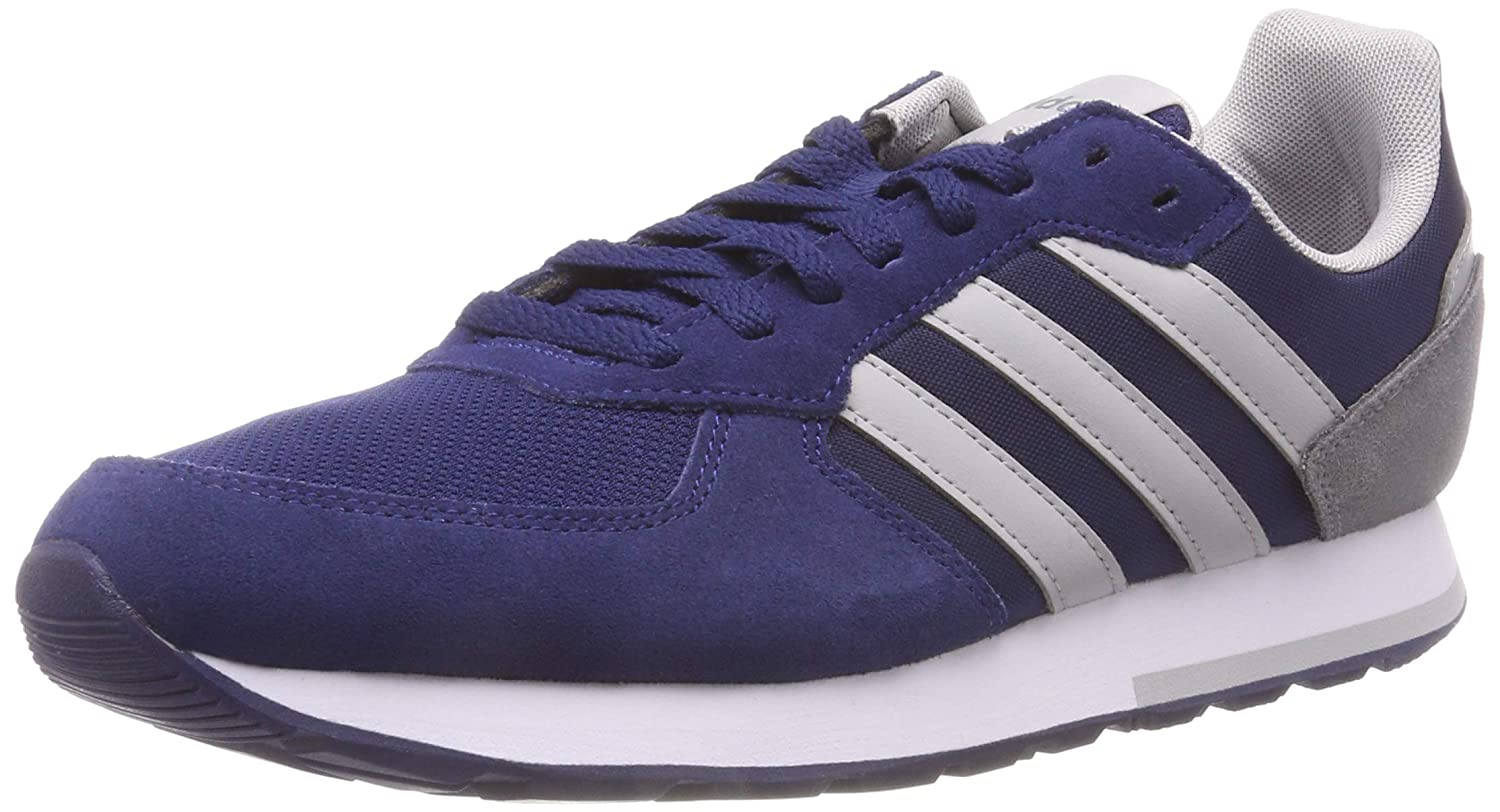 Adidas 8k, Chaussures de Running Homme 43 1/3 1/3 1/3 EU|Multicolore (Dark Blue/Grey Two F17/Grey Three F17 B44669) 1feccd