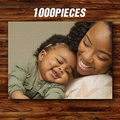 Personalized Puzzles for Adults 1000 Pieces Custom Photo Jigsaw Puzzle Photo Custom Puzzles DIY Personalized Puzzles from Photos Toys Gift Large Piece for Toddlers, Kids, Adults, Boys, Girls, Kids: Toys & Games