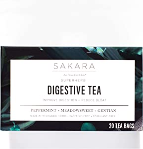 Giveaway: Sakara Superherb Herbal Tea for Digestion and Bloat 20pk