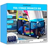 Essentially Yours Pool Noodles Holder, Toys, Floats, Balls and Floats Equipment Mesh Rolling Storage Organizer Bin, 46'x…