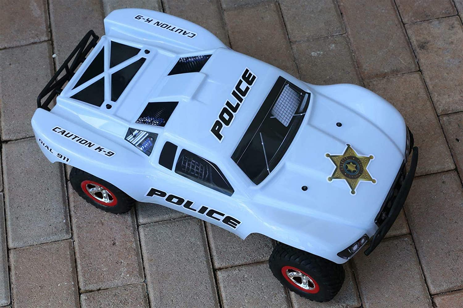 Truck not Included SS-POW-01 SummitLink Custom Body Police White Style Compatible for 1//10 Scale RC Car or Truck