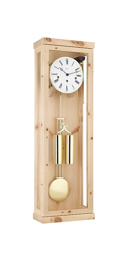Hermle Reloj de péndulo de diseño Moderno en Piedra de Pino Suizo con Movimiento de 4