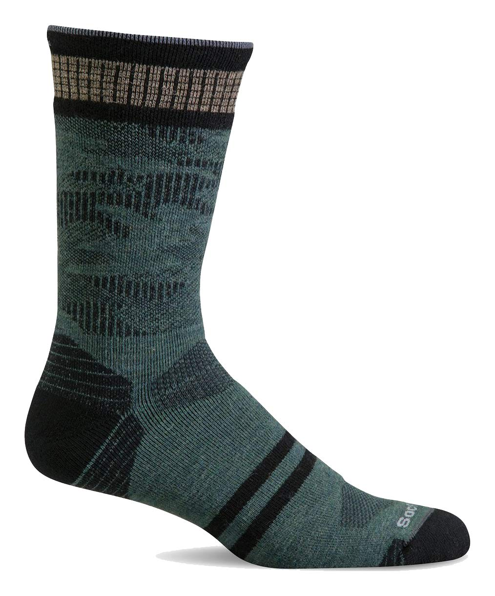 Sockwell Men's Camo Crew Moderate Graduated Compression Sock, Woodland - L/XL by Sockwell