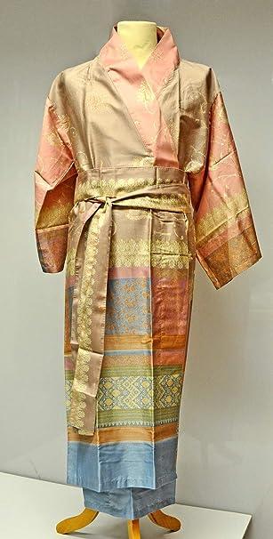 Bassetti Kimono Bernina V.1 Morgenmantel  Baumwollsatin 100/% Baumwolle S//M