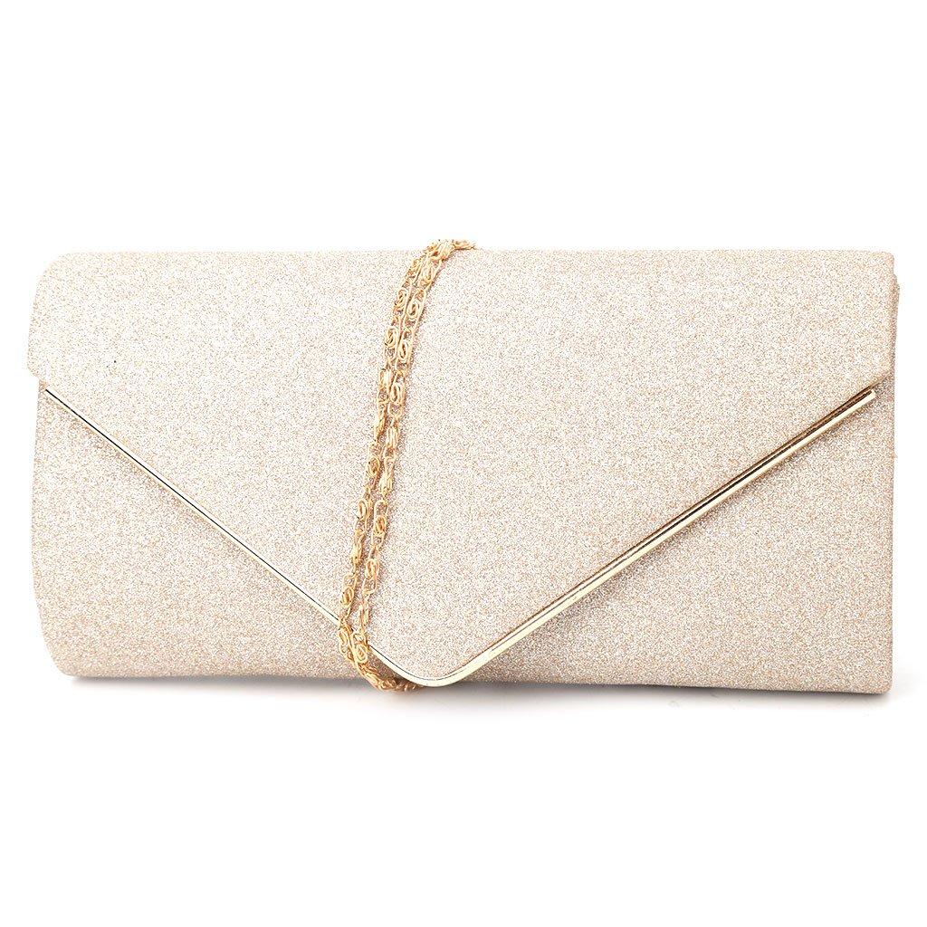 0f7b12ed02 Amazon.com  JAGENIE Fashion Women Ladies Evening Party Bridal Shoulder Bag  Purse Clutch Handbag Gold  Home   Kitchen