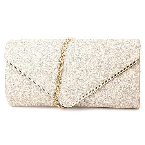 adba51e1d1 Amazon.com  Onpiece Fashion Women Ladies Evening Party Bridal Shoulder Bag  Purse Clutch Handbag (Gold)  Shoes