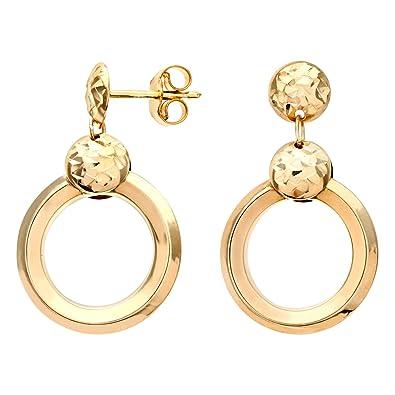 citerna triple diamond cut chiseled round drop 9 ct yellow gold