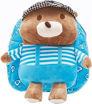 EZ Life Kids Perky Teddy Carry Bag - Plush - Blue