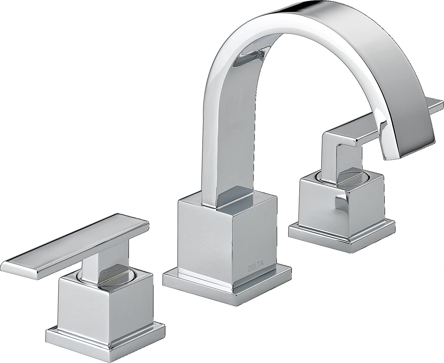 Delta 3553LF Vero 2 Handle Widespread Bathroom Faucet With Metal