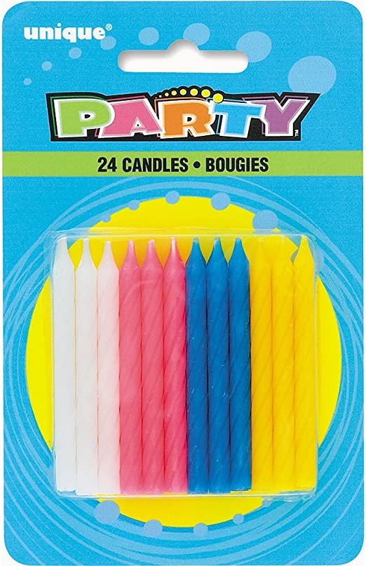 Hot Colors 72-Pack Wilton Birthday Candles 2.5-Inch