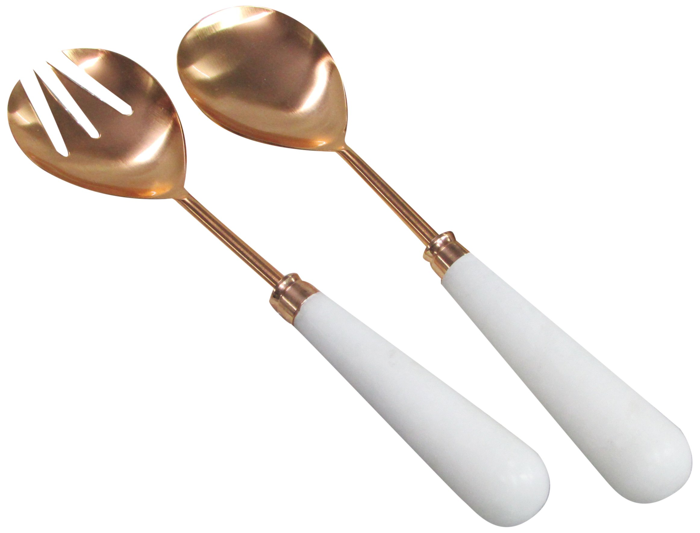 SimplyDesignz 60-177 Marble Serving Set, 11'', White/Rose Gold