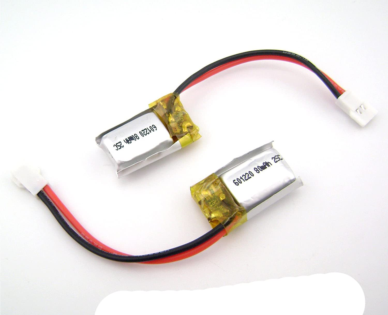 50個601220 3.7 V 80 mAh 25 C Lipoバッテリーfor 青tooth LEDライト電源