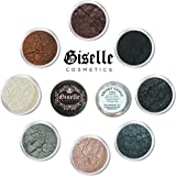 EyeShadow Palette - Mineral Makeup Eyeshadow Powder, Eyeshadow Shimmer, Blush, and Contouring Palette | Pure, Non-Diluted Shimmer Mineral Make Up in 8 Smoky Hues and Shades | For All Skin