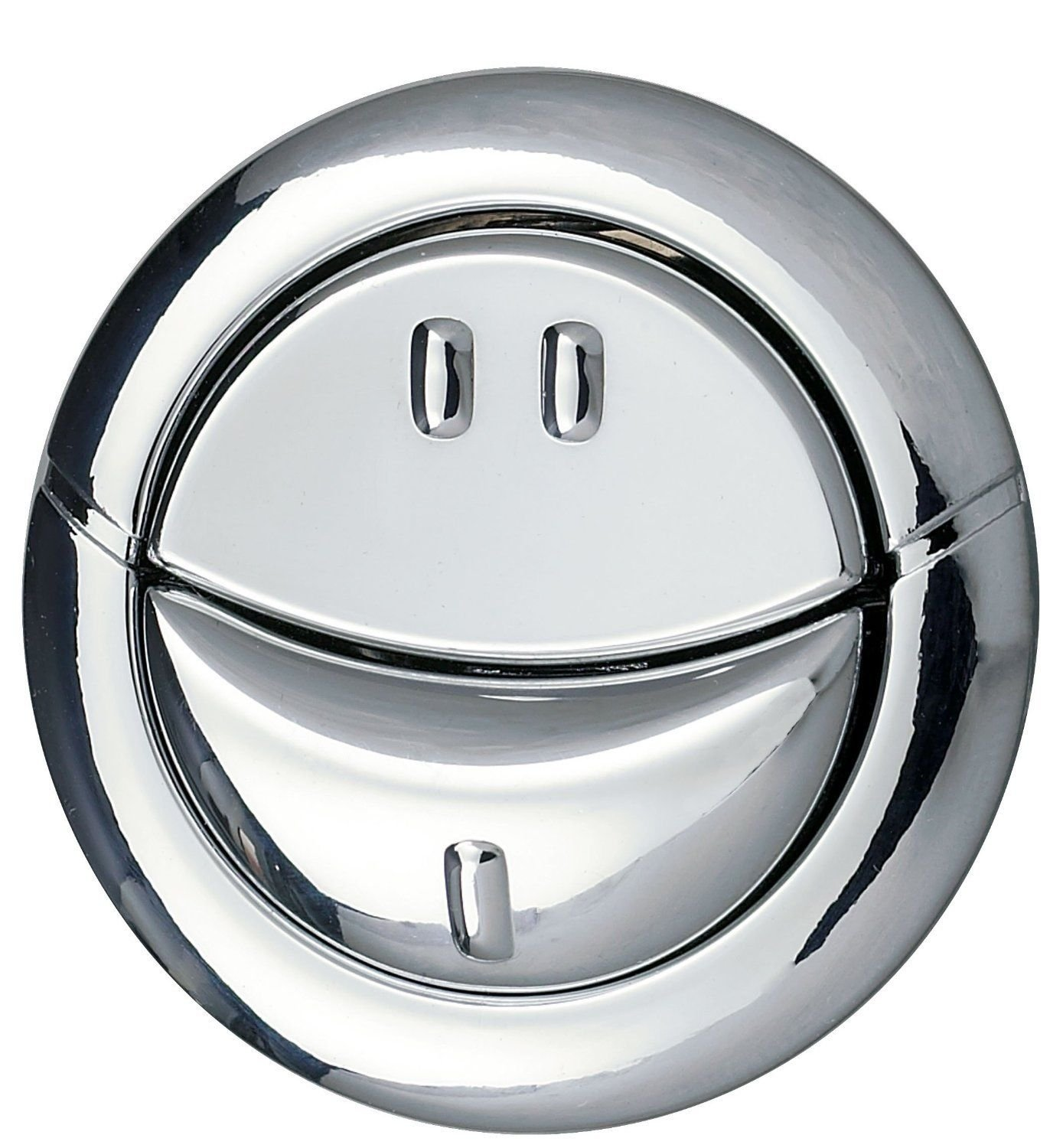 Wirquin Pro Dual Flush Toilet Cistern Button - Push Button Jollyflush Chrome Finish Replacement Wirquinn