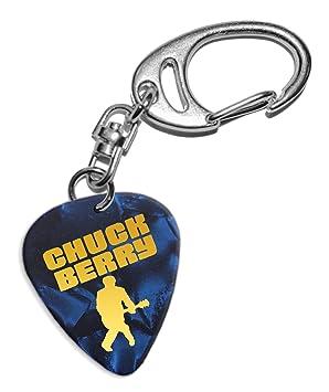 Chuck Berry Púa de Guitarra Llavero Keyring Blue Pearl (GHF ...