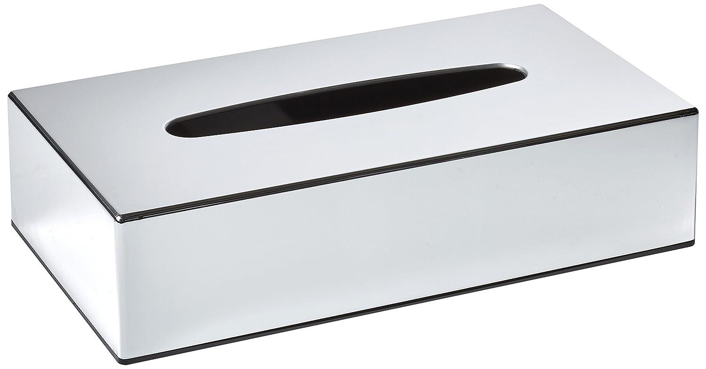 Bolero Chrome Rectangular Tissue Holder Box Cover Case Storage Bag 61X254X139mm Nisbets 8021