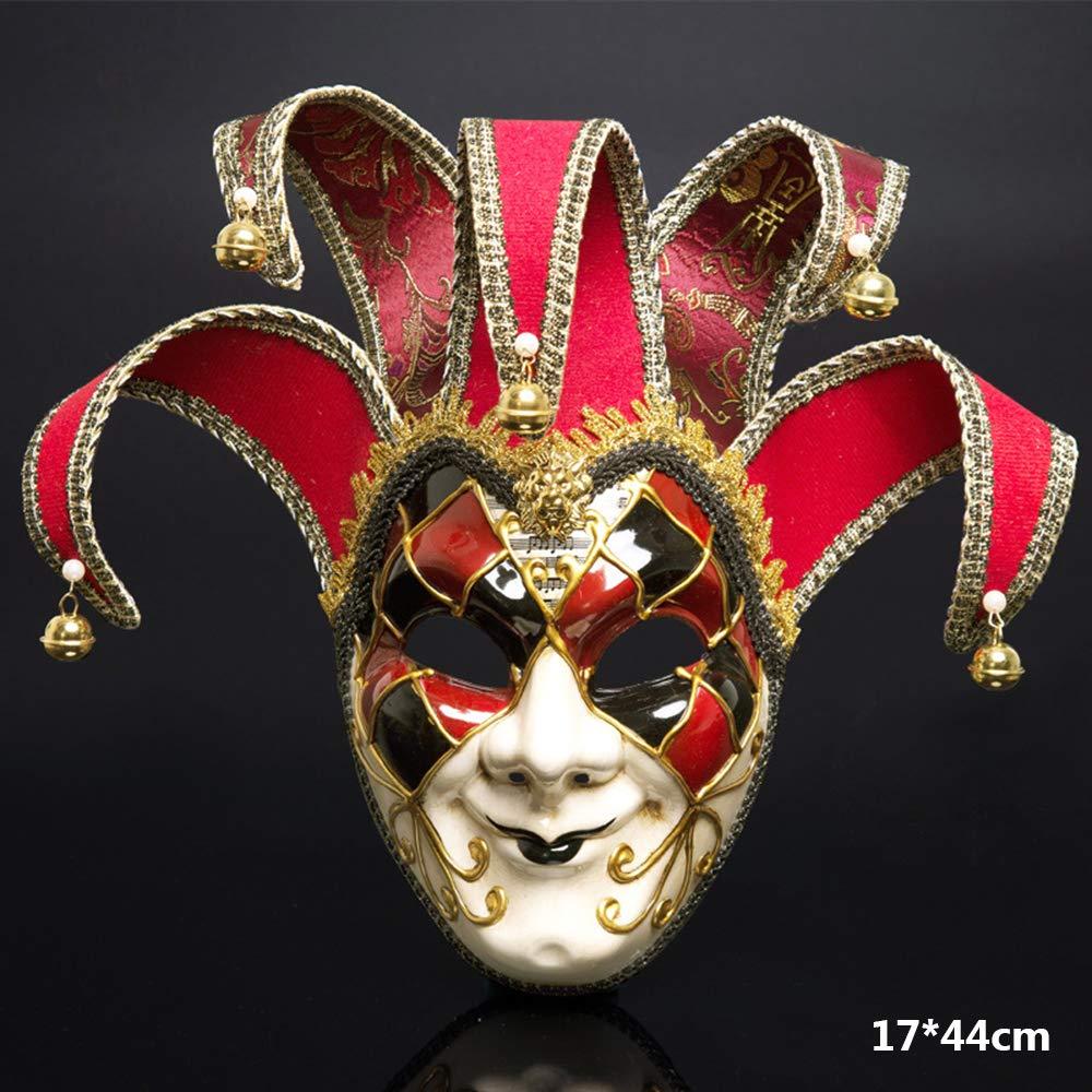 BLEVET Venezianische Maske Gesichtsmaske Joker Karneval Fasching Maskenball Karneval MZ011 Blue