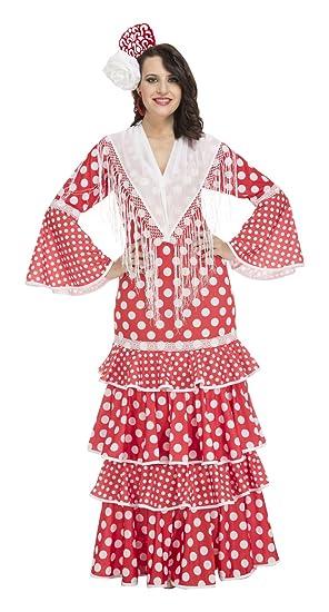 My Other Me Me-203847 Disfraz de Flamenca Sevilla para Mujer, Color Rojo,