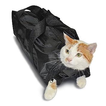 Amazon.com : Richi Pet Cat Grooming Bag Cat Bathing Restraint Bag Claw Nail Trimming Examing Bag : Pet Supplies