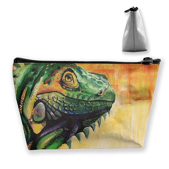 5509f58dbf42 Amazon.com: Makeup Bag Cosmetic Beautiful Lizard Aitwork Portable ...