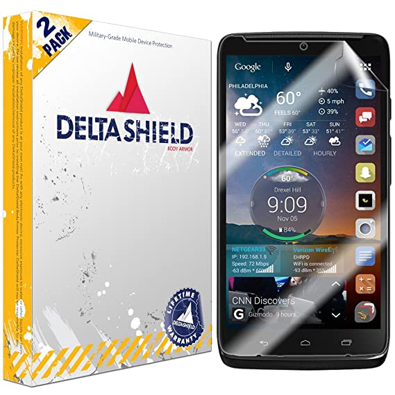 Motorola Droid Turbo 2 Screen Protector [2-Pack], DeltaShield BodyArmor Full Coverage