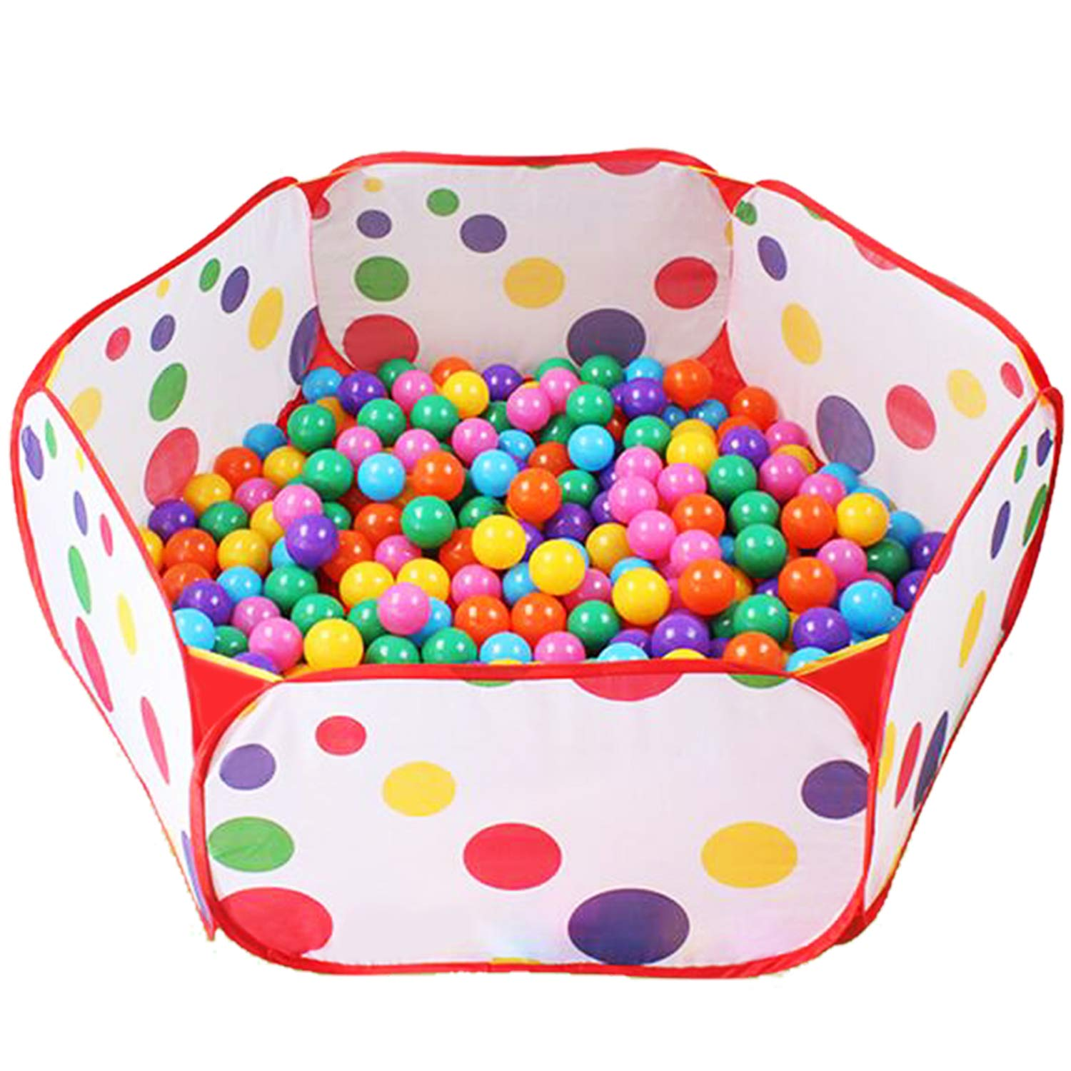 Kimitech Kids Ball Pit Playpen, 39.4-inch by 14.6-Inch with Zippered Storage Bag(Not Include Balls)