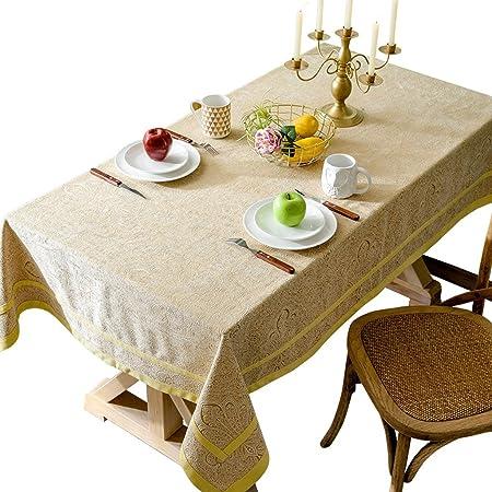 Mantel de Estilo Europeo Sala de Estar Mantel Rectangular de algodón y Lino, Mantel Occidental Mantel de Tela Sala de Estar hogar (Tamaño : 130 * 220cm): Amazon.es: Hogar