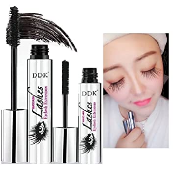 e7dbe9bc338 Amazon.com : DDK 4D Mascara Cream Makeup Lash Cold Waterproof Mascara Eye  Black Eyelash Extension crazy long Style Warm Water Washable Mascara :  Beauty