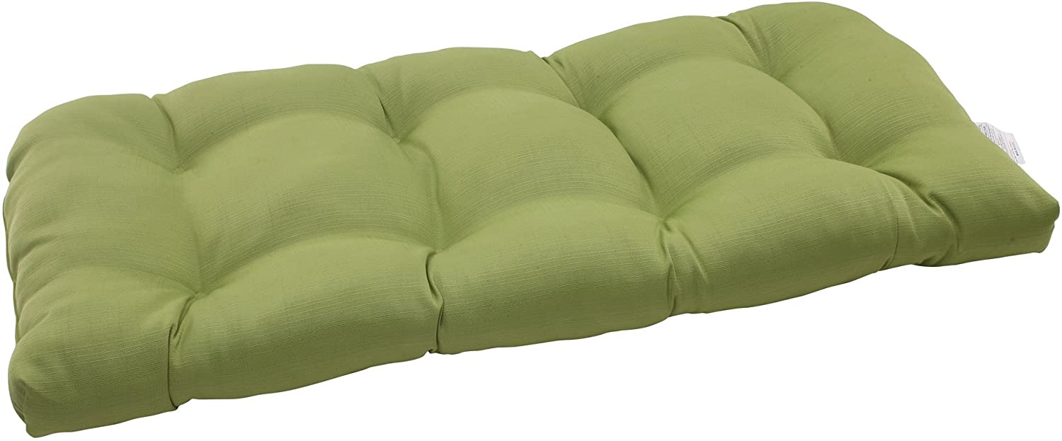 Pillow Perfect Outdoor/Indoor Forsyth Kiwi Tufted Loveseat Cushion, 44