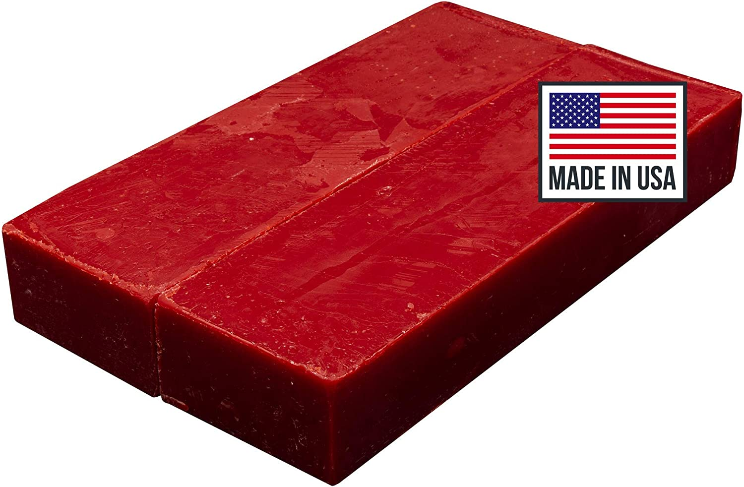 Blended Waxes, Inc. Cheese Wax 1lb. Block - Fully Refined Premium Wax For Cheese Making - Wax Can Be Used For A Variety Of Different Cheese Types (2, Red)