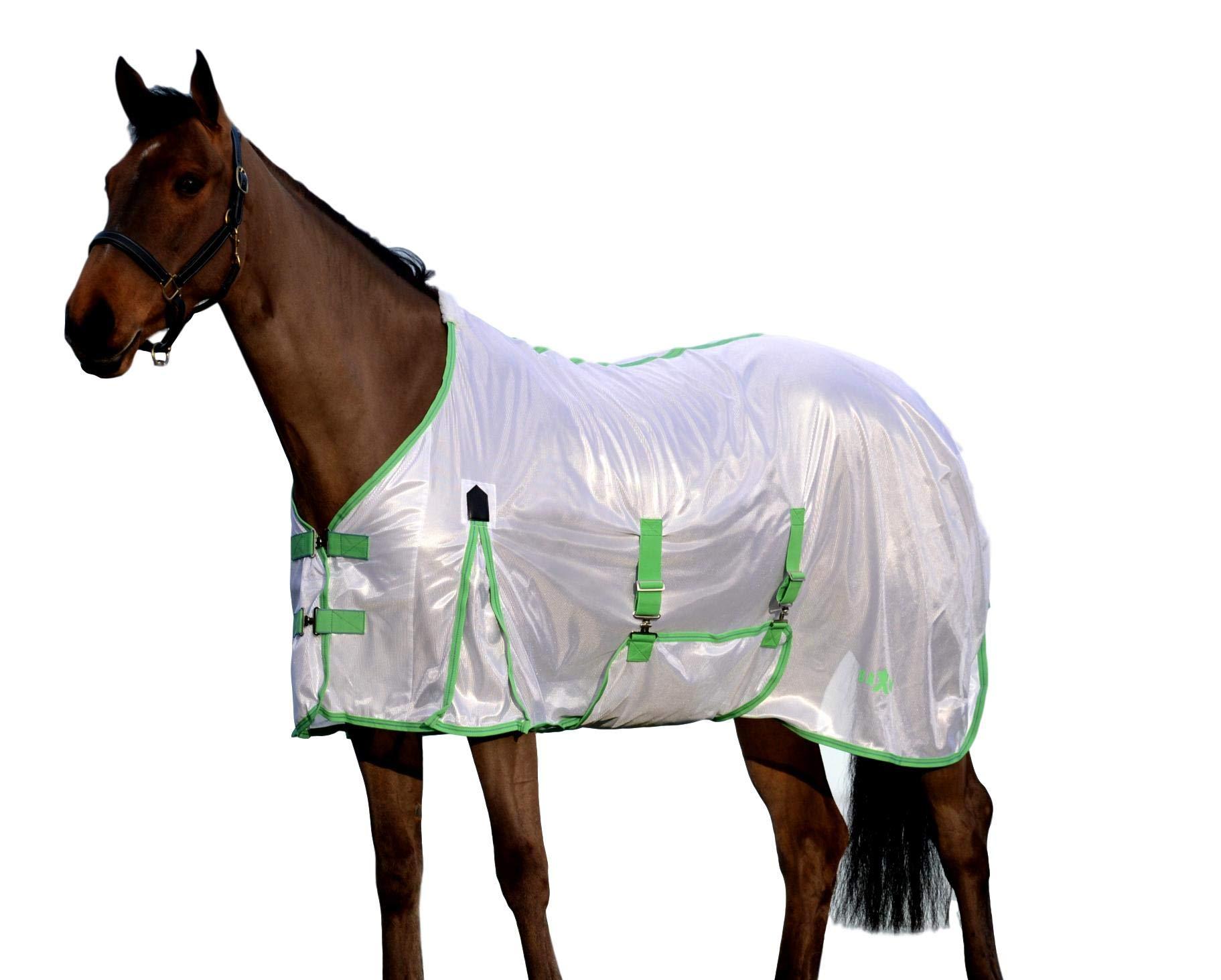 Saxon Mesh Gusset Belly Wrap Fly Sheet 75 White/Mi