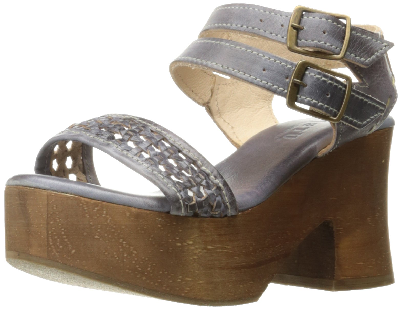 Bed|Stu Women's Kenya Platform Sandal, Smoke Blue, 7 M US