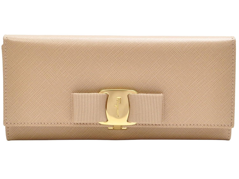 (サルヴァトーレフェラガモ) Salvatore Ferragamo 財布 サイフ 二つ折り長財布 ビスクベージュ カーフレザー 22b559-548922 ブランド 並行輸入品 B00XXUBCLK