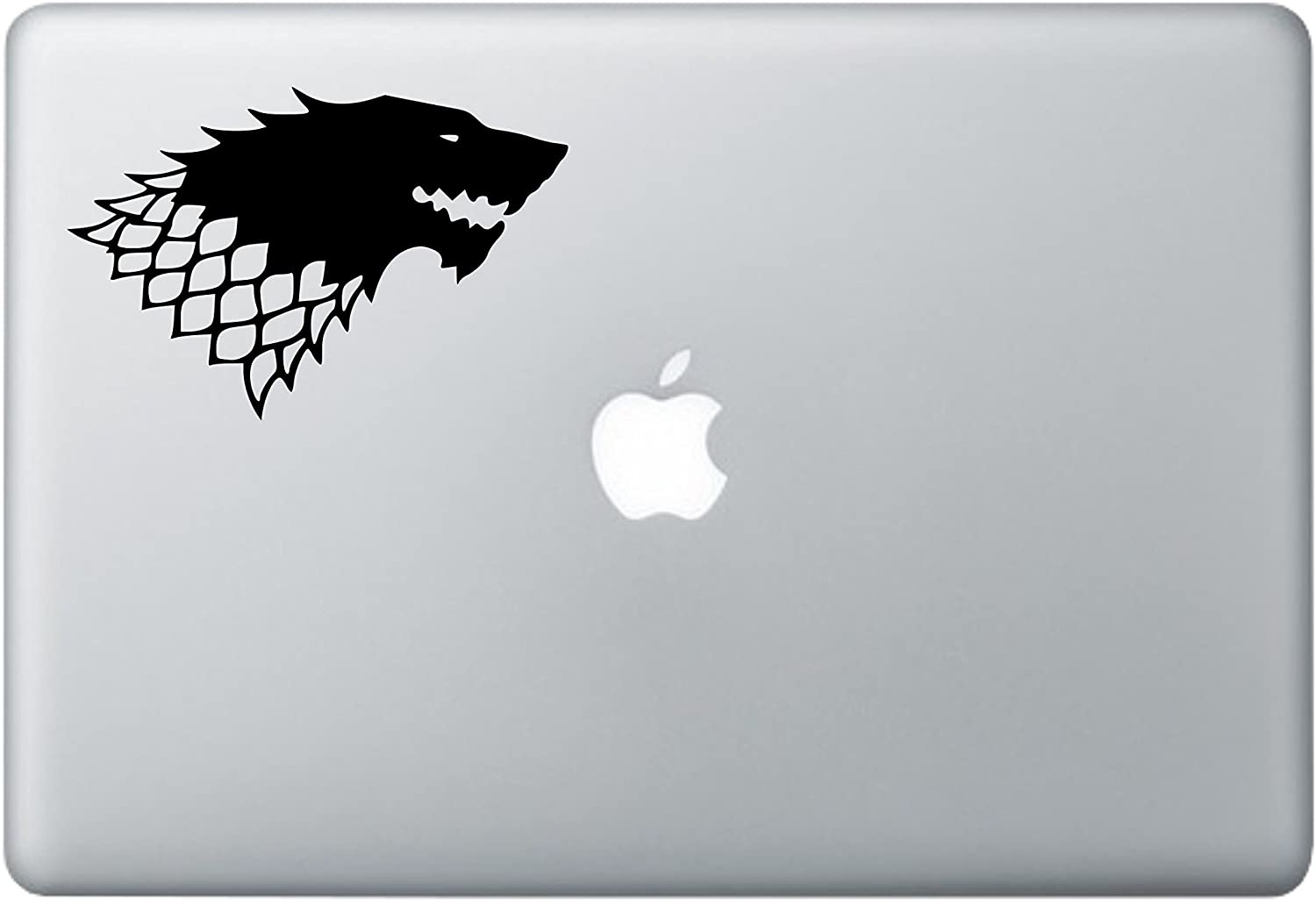 Game of Thrones - House of Stark Sticker, Vinyl Decal Sticker for MacBook/Laptop, Car/Truck, Window or Any Flat Surface. by A-B Trader.