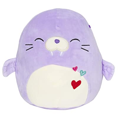 Squishmallow Kellytoy 2020 Valentines Squad 12 Inch Winnie The Purple Walrus/Sea Lion Plush Doll: Toys & Games