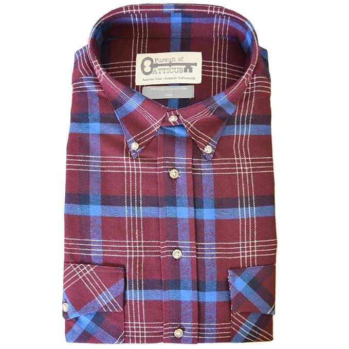 Amazon.com: Cherokee franela para hombre, algodón, diseño a ...