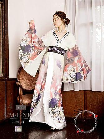 62a35288ed6a2 (リューユ)Ryuyu 花魁 コスプレ 衣装 和柄ドレス コンパニオン 衣装 着物 ドレス 流遊