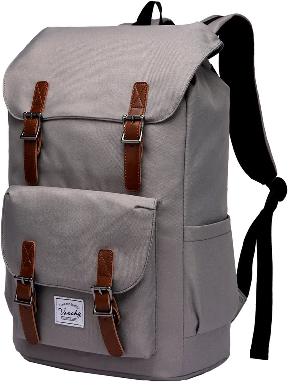 Laptop Backpack for Men,Vaschy Water Resistant School Bookbag College Rucksack Daypack for 15.6in Laptop Gray