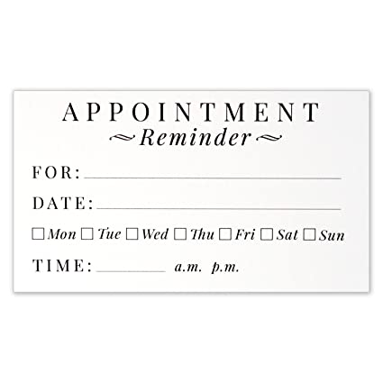 appointment reminder cards business card size 35 x 2 inches pack of 50 - Business Card Size Inches
