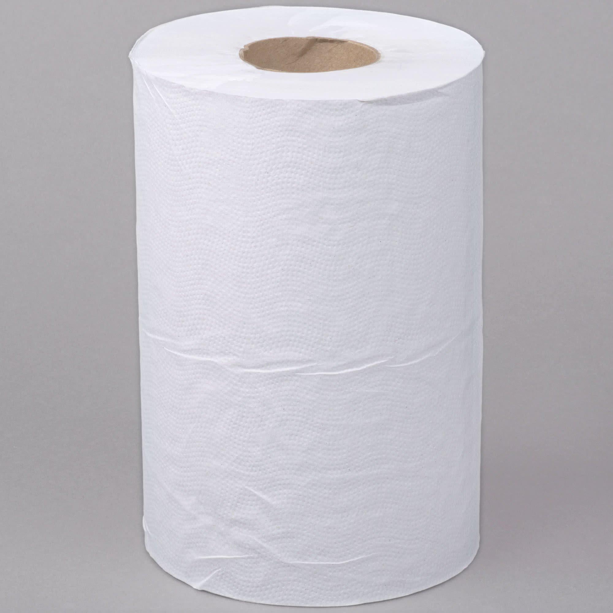 TableTop King White Roll Towel 350 Feet / Roll - 12/Case