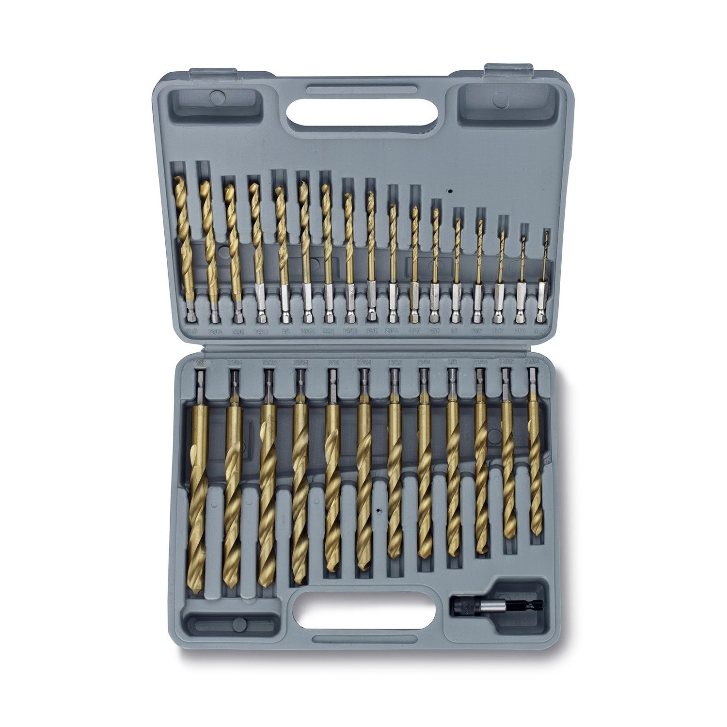 Amazon jobber drill bits tools home improvement tooluxe 10055l titanium coated hex shank drill bit set 30 piece quick change design see size options greentooth Image collections