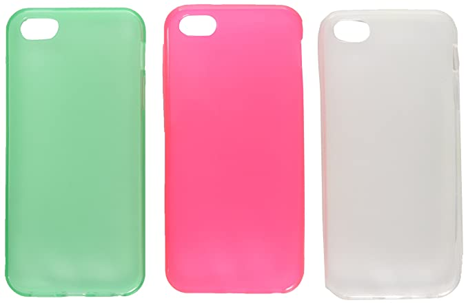cd0f2965083d46 Amazon.com: 3 Pack TPU Rubber Case Combo Compatible with Apple ...