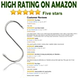 "Evob 20 Pack 3.4"" S Shaped Hooks Stainless Steel"