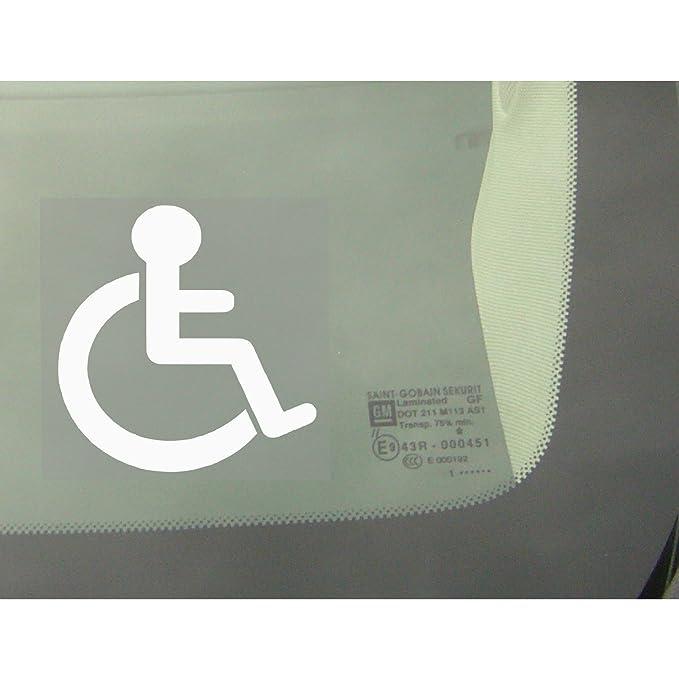 Pegatina de señal de discapacitados para la ventana del coche, furgoneta, camión, vehículo.: Amazon.es: Coche y moto