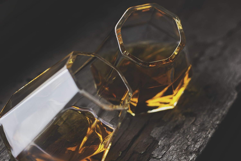 Dragon Glassware Diamond Shot Glasses Set of 2 Gift Boxed 1.7-Ounce
