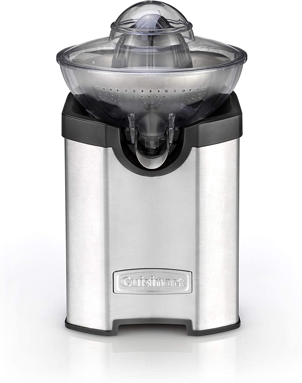 Cuisinart CCJ210E Exprimidor eléctrico de acero inoxidable con función Turbo, sistema antigoteo, todo tipo de cítricos, apto lavavajillas, apto con vaso alto: Amazon.es: Hogar