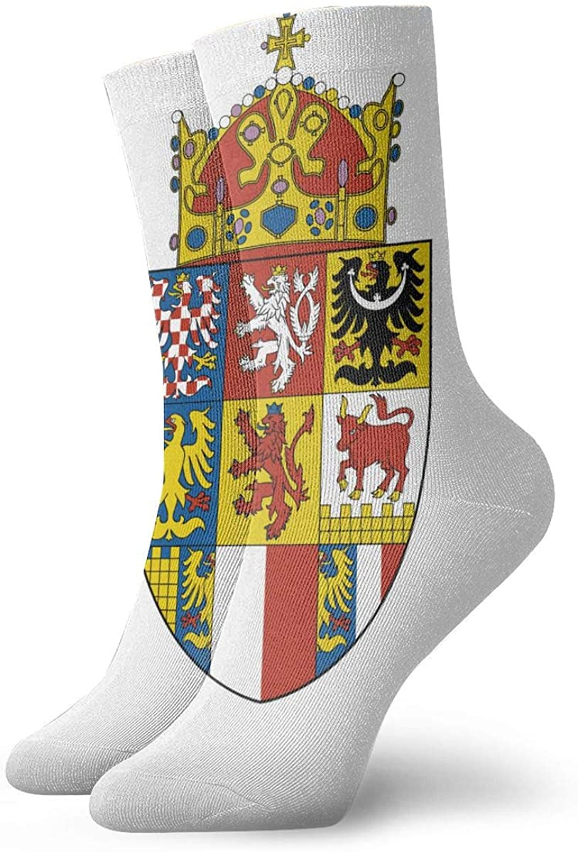 Czech Republic Coat Of Arms Socks Womens Comfort Crew Sock Mens Moisture Wicking Crew Sock